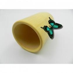 Ventuza / Cupa (6 x 10 cm sau 7 x 12 cm) din Bambus pentru Masaj (Accesoriu traditional si natural pentru Masaj) + Cristal CADOU