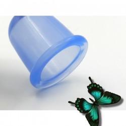 VENTUZA Medie (5.5 cm) din silicon (antibacterian si antiaclegic) pentru MASAJ Anticelulitic si Terapeutic + Cristal CADOU