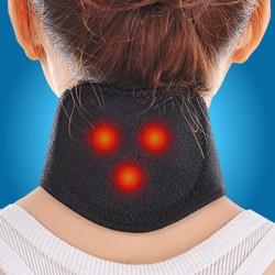 Centura Cervivala Terapeutica (30 cm x 10 cm) cu Turmalina si 3 Magneti pentru dureri