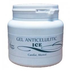 Gel Anticelulitic ICE Camfor si Mentol cu efect de racire pentru vase capilare dilatate - 500 ml + Cristal CADOU