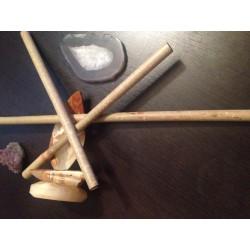 Bat Bambus Profesional 50 cm pentru Masaj Anticelulitic + CADOU Cristal CHAKRA