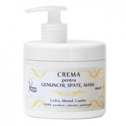 Crema Antireumatica pentru Masaj (Genunchi, Spate, Maini) cu Cedru, Mentol si Camfor - 500 ml + Cristal
