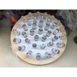 Aparat / Perie (11 cm) din Lemn + Silicon pentru Masajul Anticelulitic + Cristal Cadou