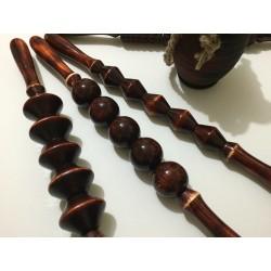 Roller Bile (Sfere) Profesional LEMN (43 x 4 cm) Calitate Superioara pentru Masaj / MaderoTerapie + Cristal CADOU