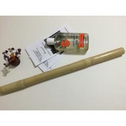 Oferta de Vara: Bat Bambus (50 cm, 3 cm diametru) + Ulei Anticelulitic Cocktail Natural 300 ml cu Piper Negru si Portocala