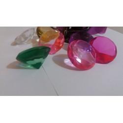 Cristal fatetat diferite culori CHAKRA / Pietre semipretioase pentru Masaj, Terapie, Protectie si Sanatate + Instructiuni