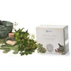 SARE de BAIE 100% Naturala din Praid cu Plante Medicinale (musetel, galbenele, sunatoare) la cutie 5 Kg + Cristal CADOU