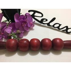 Roller 5 Bile din LEMN Pretios Esenta Tare (38 cm) pentru Masaj / MaderoTerapie + Cristal CADOU