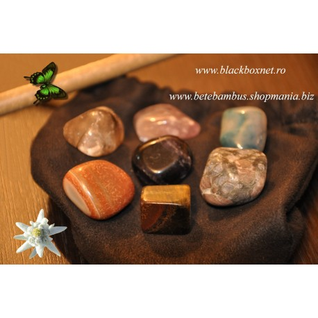 SET 7 Cristale / Pietre Semipretioase CHAKRA pentru Masaj, Terapie, Armonie, Protectie si Sanatate